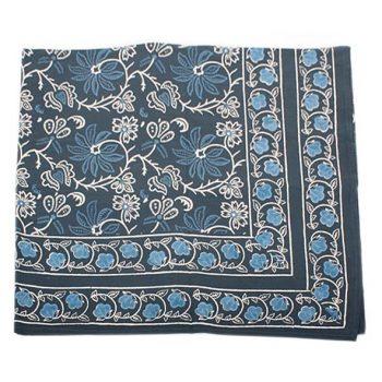 Queen bedspread with blue floral design   TradeAid