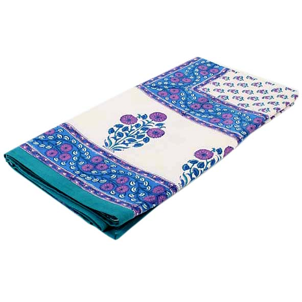Blue patterned queen bedspread   TradeAid