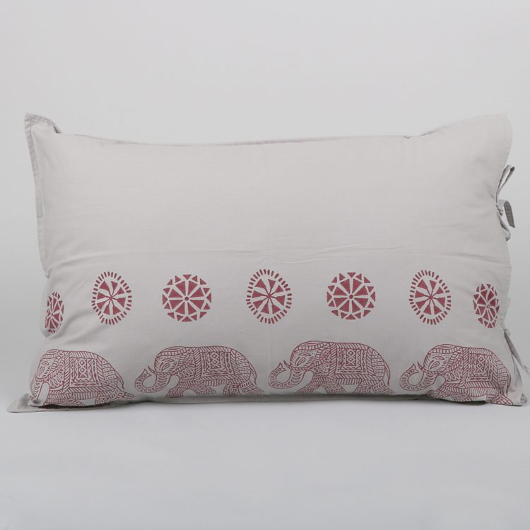 Elephant block print pillowcase | TradeAid