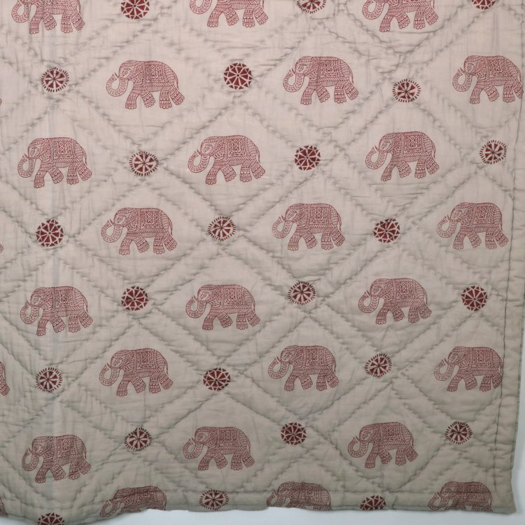 Queen quilt with elephant block print | Gallery 2 | TradeAid