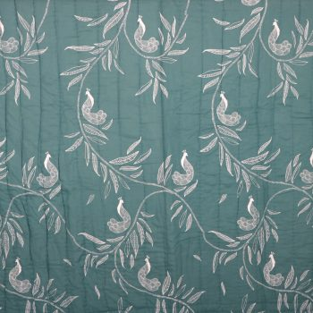Queen quilt with leaf and peacock print | Gallery 1 | TradeAid
