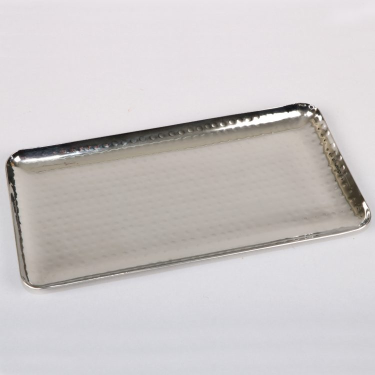 Hammered steel serving platter | TradeAid