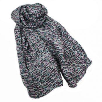 Leaf print silk scarf | TradeAid
