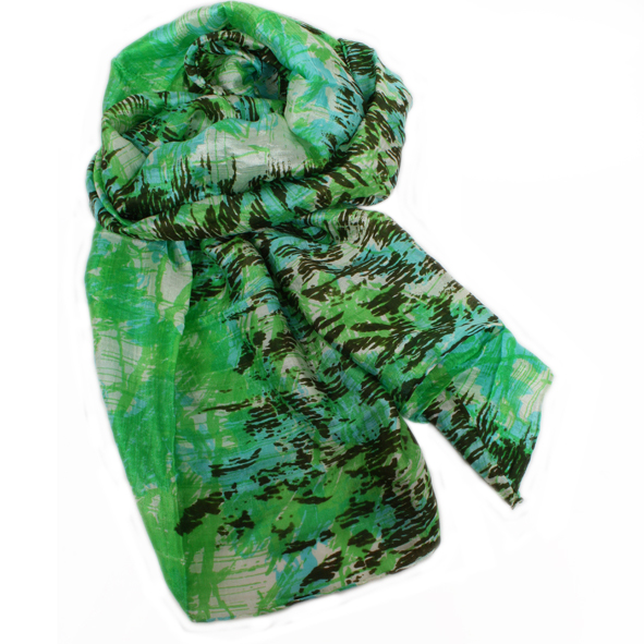 Green and blue scarf | TradeAid