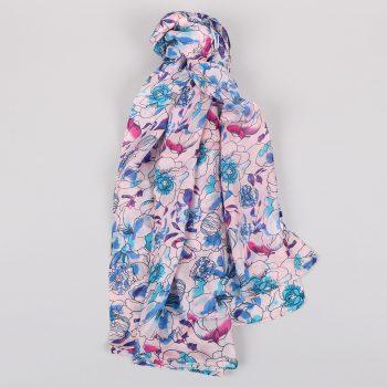 Floral silk scarf | TradeAid