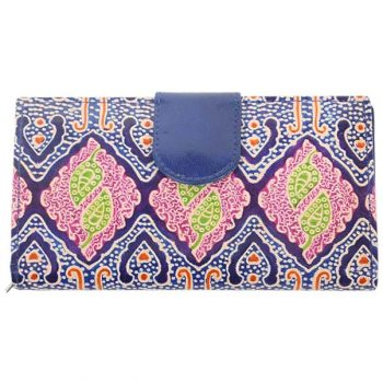 Purple shanti leather wallet   TradeAid