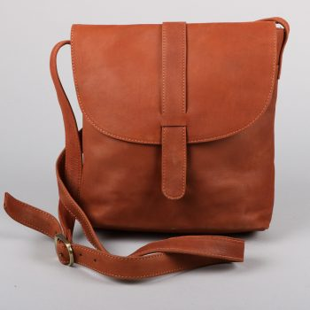 Chestnut leather day bag | Gallery 1 | TradeAid