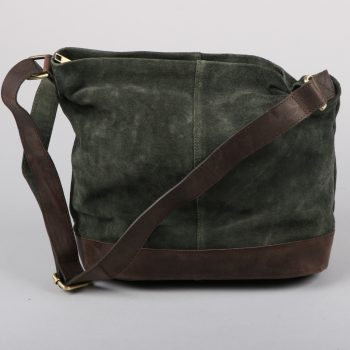 Green suede slouch bag | Gallery 2 | TradeAid