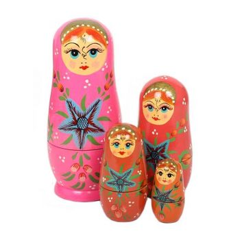 Pink variation woman nesting dolls | TradeAid