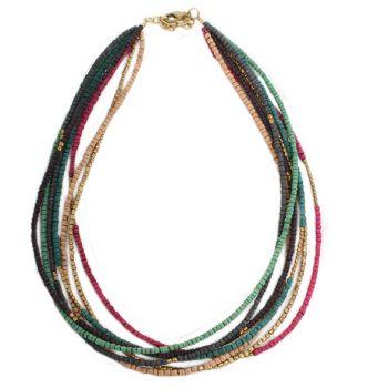 7 string multicolour necklace | TradeAid