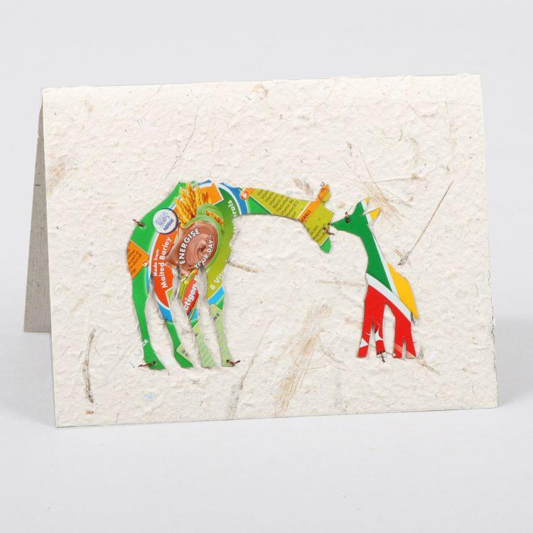Giraffe and baby card | TradeAid