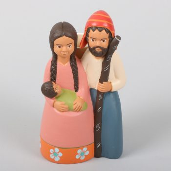 Ceramic holy family candle holder | TradeAid