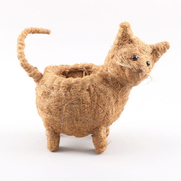 Cocofibre cat planter | TradeAid