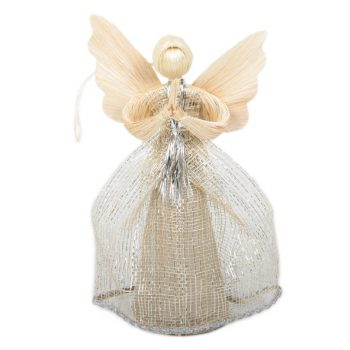 Large stella abaca angel with silver dress | TradeAid