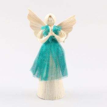 Small abaca angel with blue dress | TradeAid