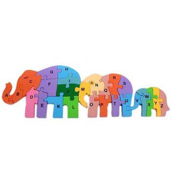 Elephant family alphabet puzzle | TradeAid