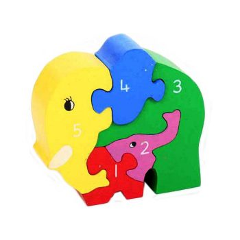 Elephant and baby number puzzle | TradeAid