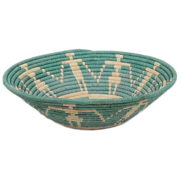 Teal woven bowl | TradeAid