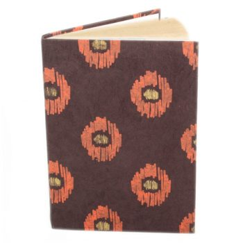 Grey and gold ikat notebook | TradeAid