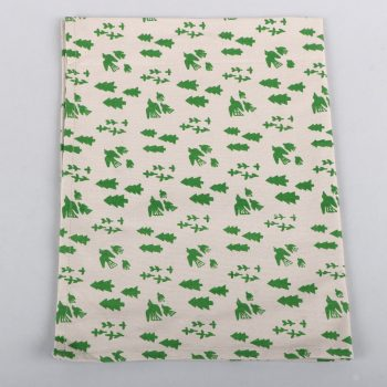 Forest and bird print cotton teatowel | TradeAid