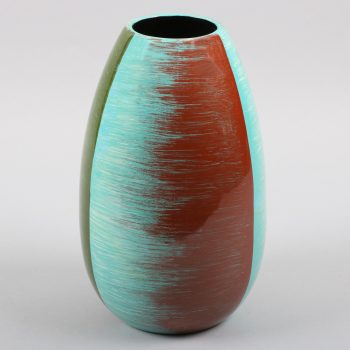 Tall blue, green and red pattern vase | TradeAid