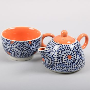 Blue spiral teapot and cup set | Gallery 1 | TradeAid
