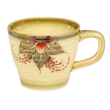 Red and green floral teacup | TradeAid