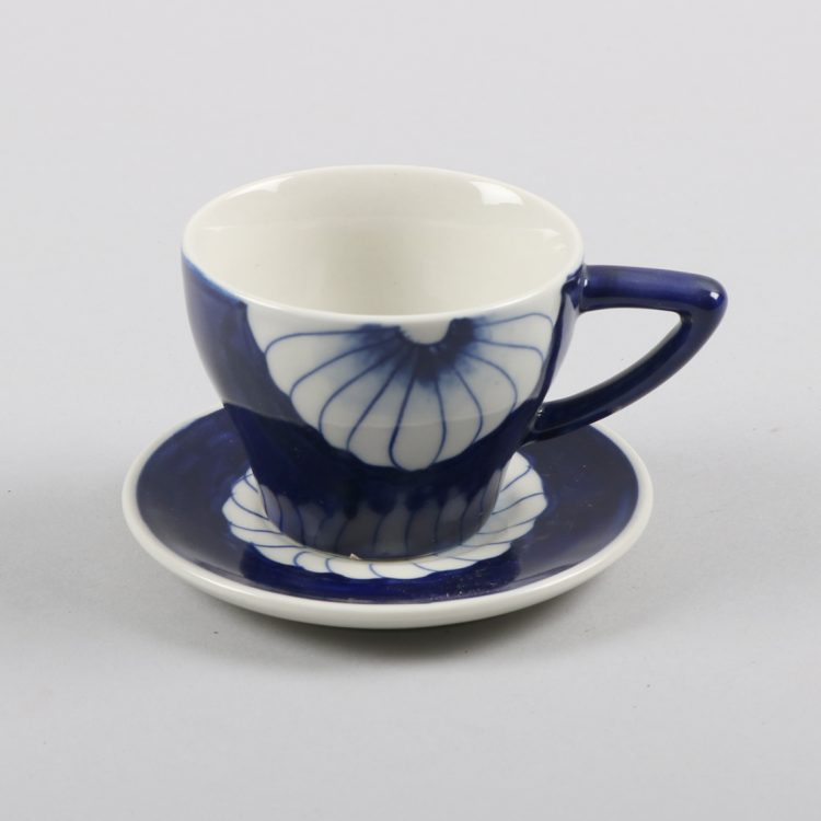 Blue flower teacup and saucer | TradeAid