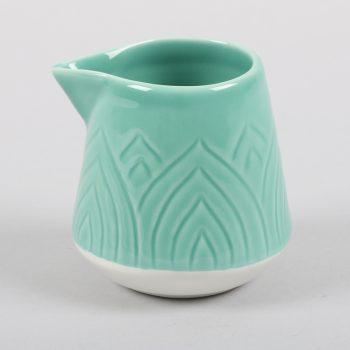 Teal lotus milk jug | TradeAid