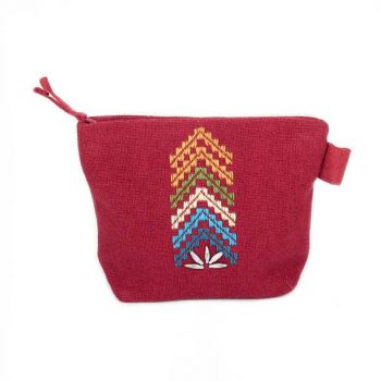 Red embroidered purse | TradeAid