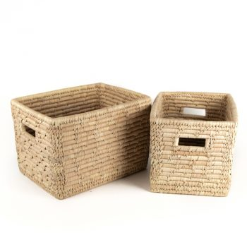 Date palm magazine basket (set of two) | TradeAid