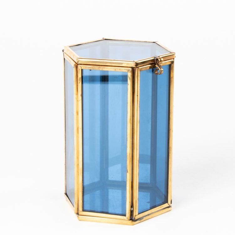 Large blue glass shadow box | TradeAid