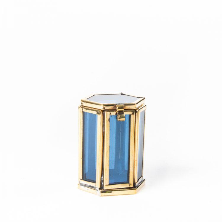 Small blue glass shadow box | TradeAid