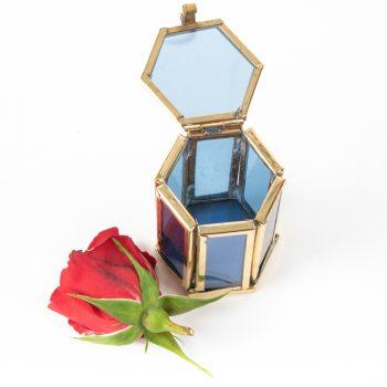 Small blue glass shadow box | Gallery 1 | TradeAid