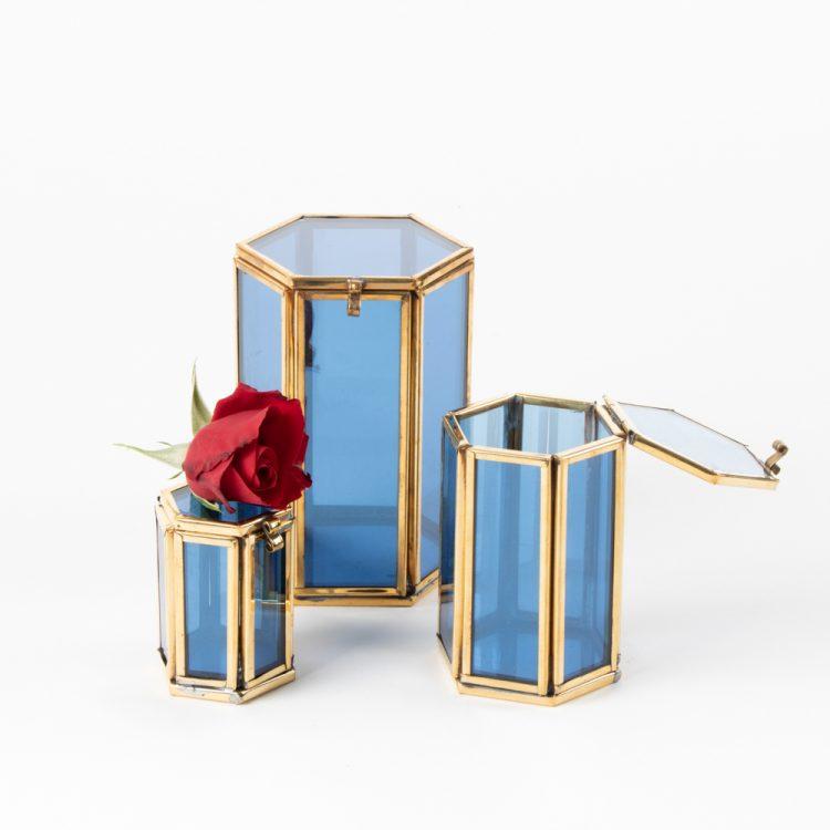 Small blue glass shadow box | Gallery 2 | TradeAid