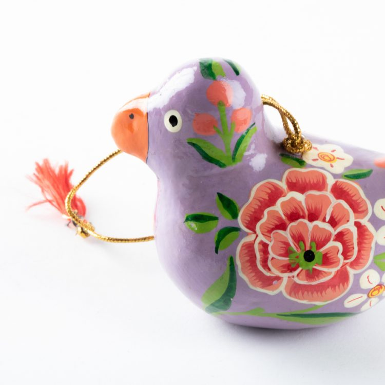 Purple floral bird hanging | Gallery 1 | TradeAid