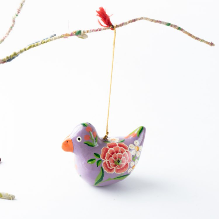 Purple floral bird hanging | Gallery 2 | TradeAid