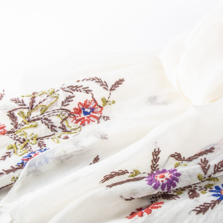 White embroidered scarf | Gallery 1 | TradeAid