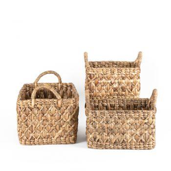 Water hyacinth baskets (set of three)   TradeAid