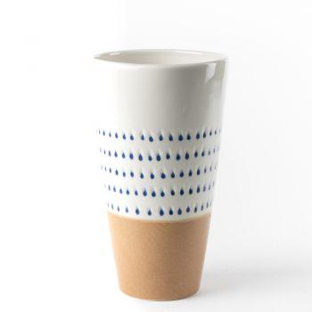 Blue drops ceramic vase | Gallery 1 | TradeAid