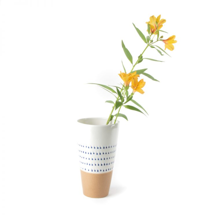 Blue drops ceramic vase | TradeAid