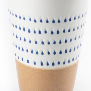 Blue drops ceramic vase | Gallery 2 | TradeAid