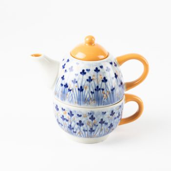Ditsy marigold teapot and cup | TradeAid