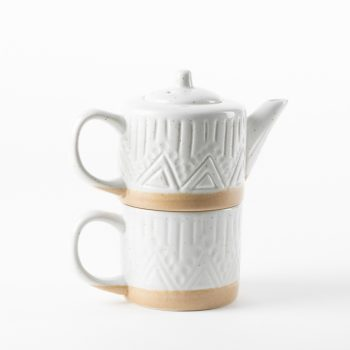 Linear speckle teapot and mug | TradeAid