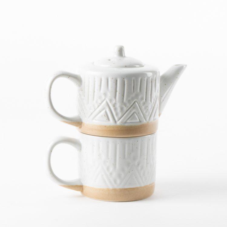 Linear speckle teapot and mug | TradeAid