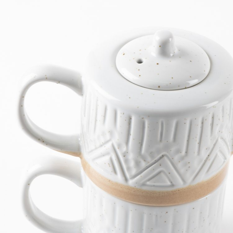 Linear speckle teapot and mug | Gallery 1 | TradeAid