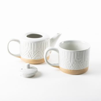 Linear speckle teapot and mug | Gallery 2 | TradeAid
