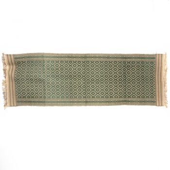 Green diamond jute runner | TradeAid