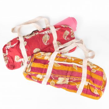 Recycled sari yoga bag | TradeAid