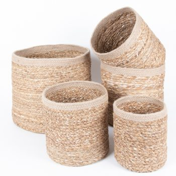 Hogla baskets (set of five) | TradeAid